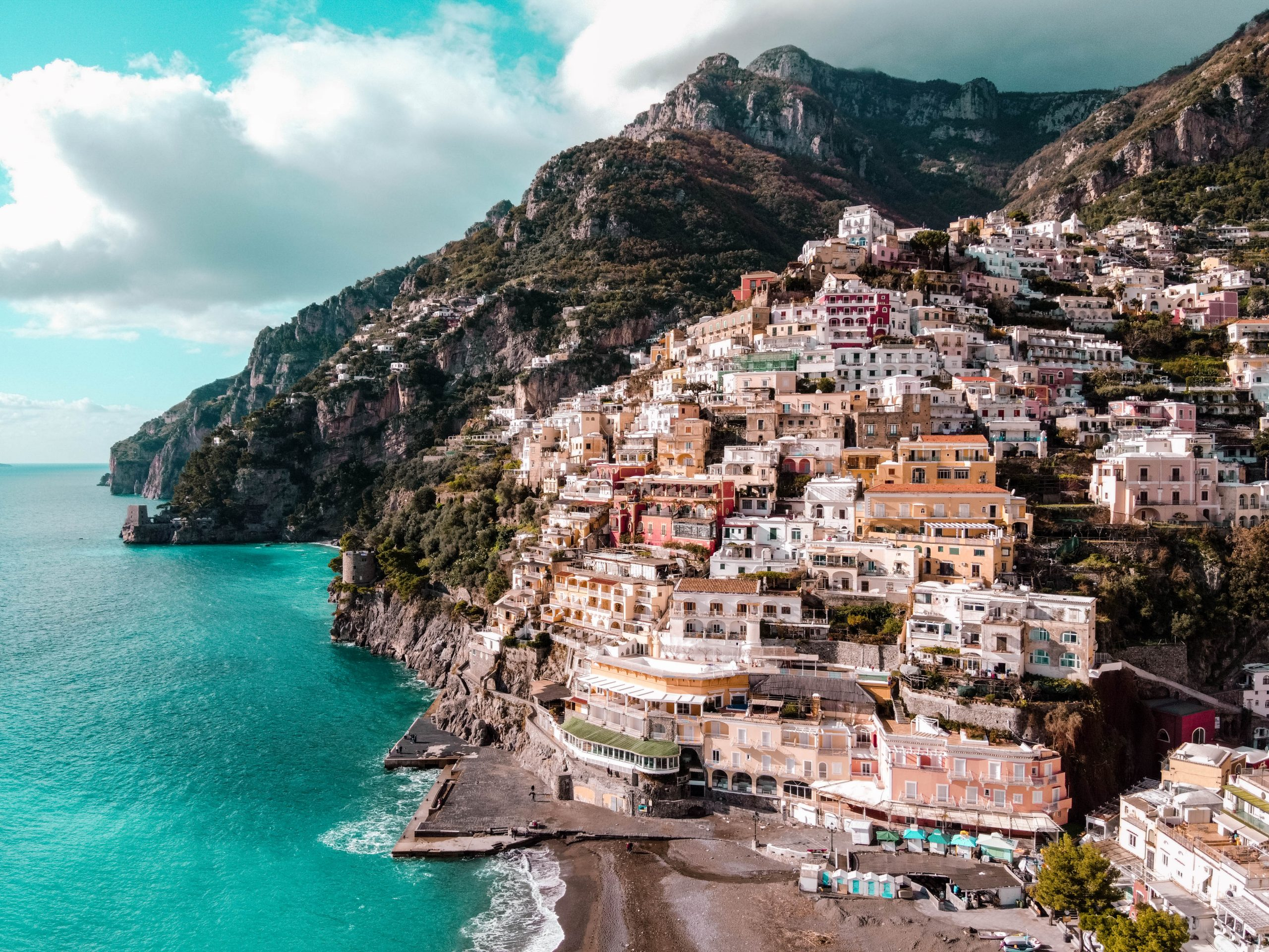 Positano Amalfi Coast Italy Drone Aerial Photgraphy DJI Mavic Mini province of salerno