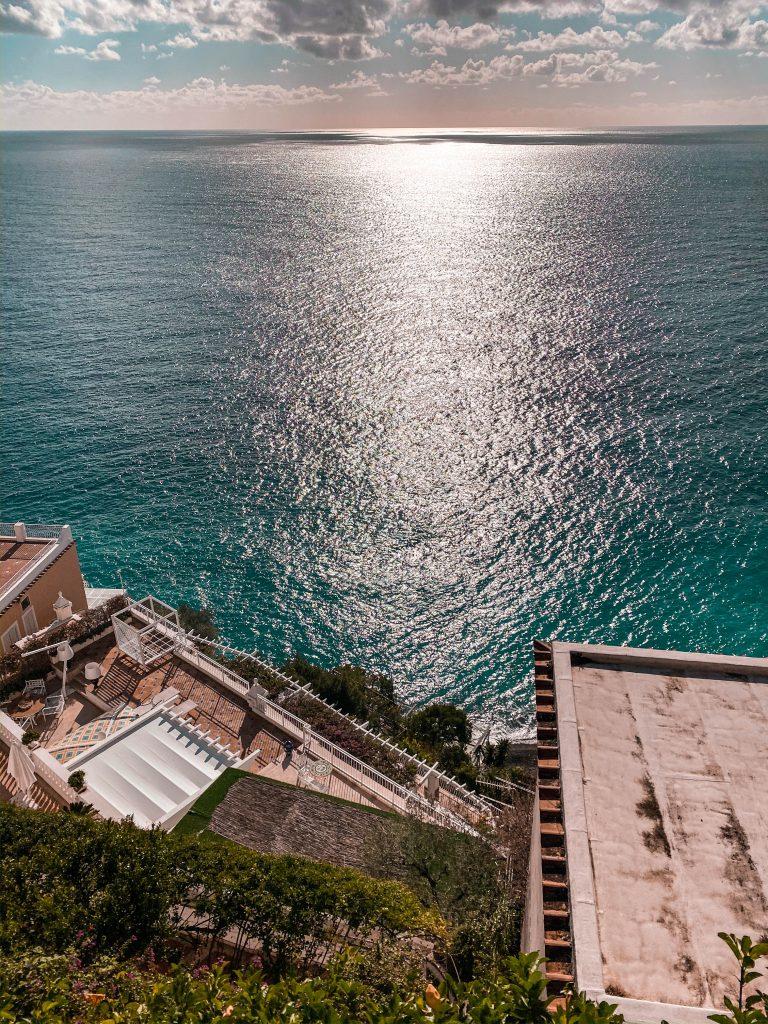 Positano amalfi coast italy tyrrhenian sea