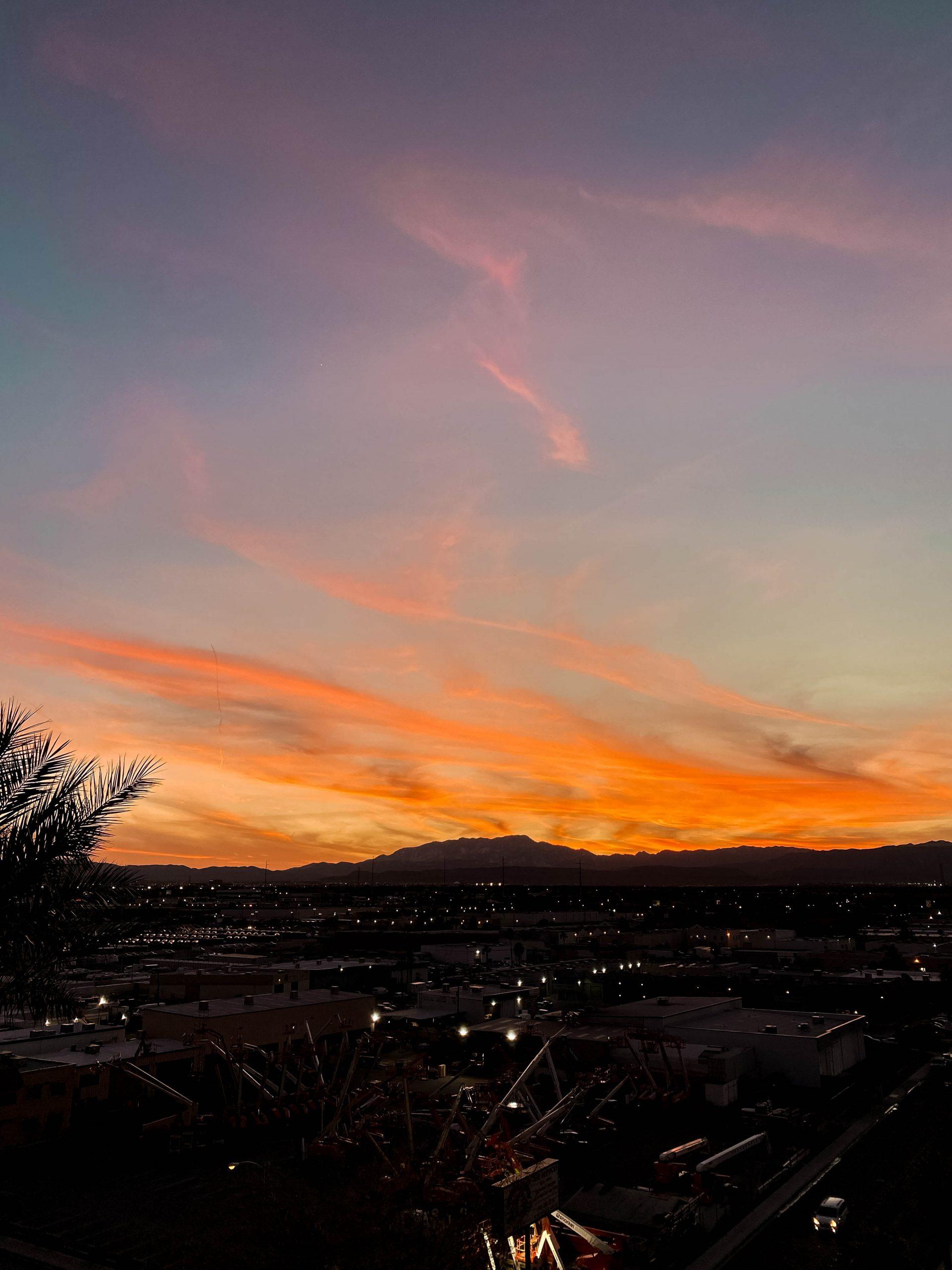 las vegas sunset nevada palms place view