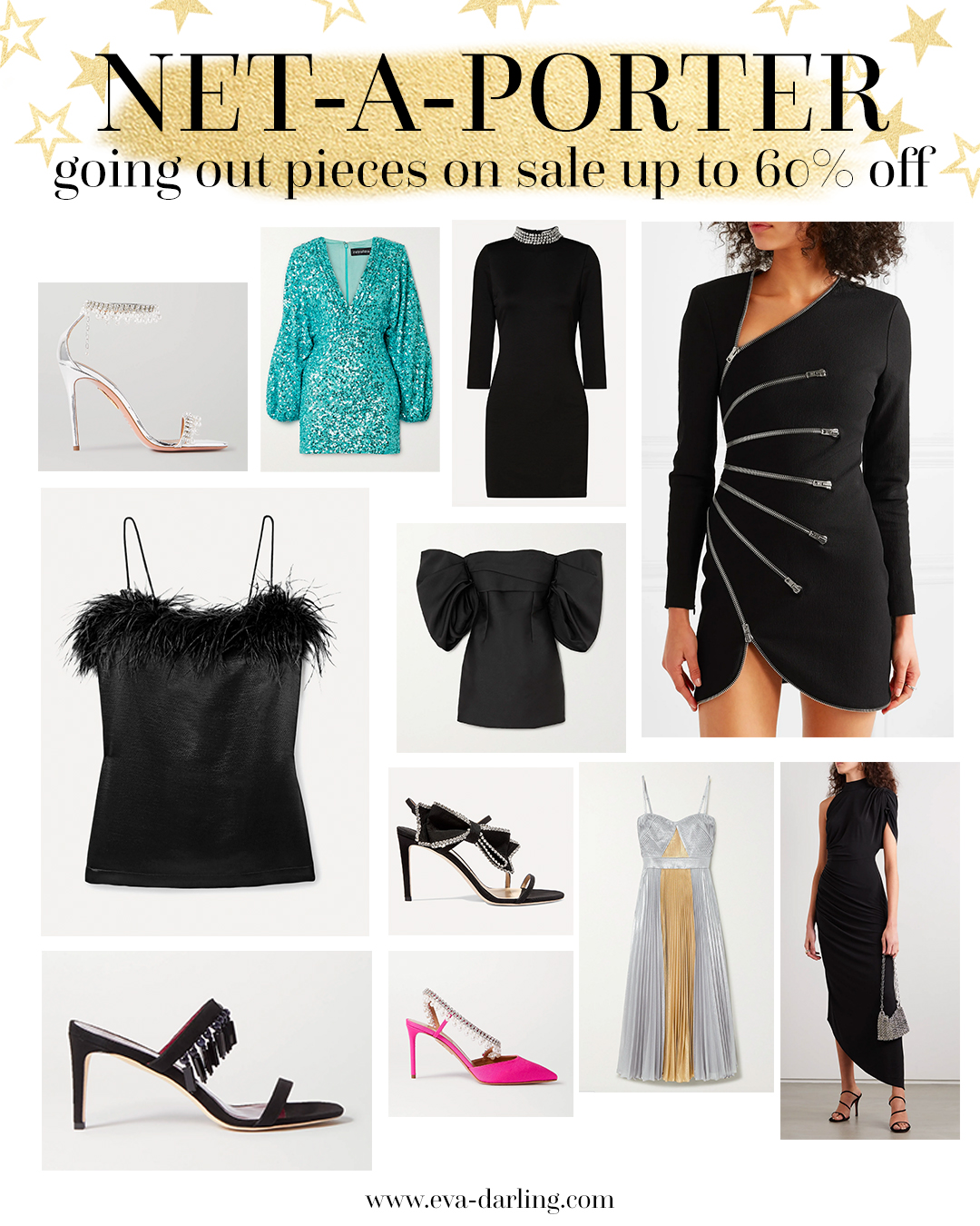 net a porter, what to wear on a night out, retrofete party dress, alexander wang, veronica beard, aquazzura, staud