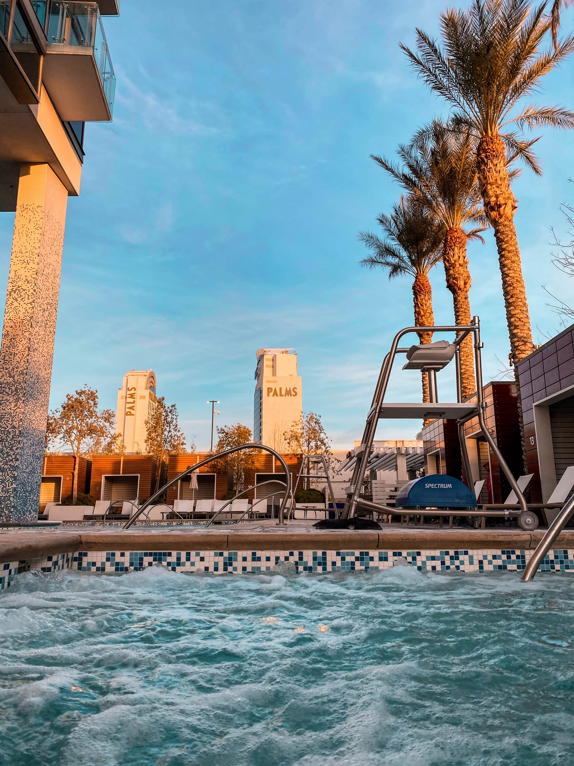 Palms Place Rooftop pool and hot tub, luxury las vegas hotel, vegas airbnb, Palms Casino and Resort