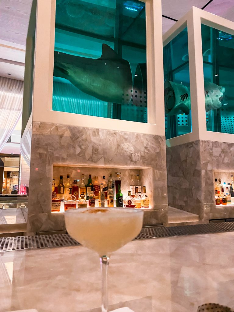the unknown cocktail bar palms resort and casino las vegas damien hirst shark