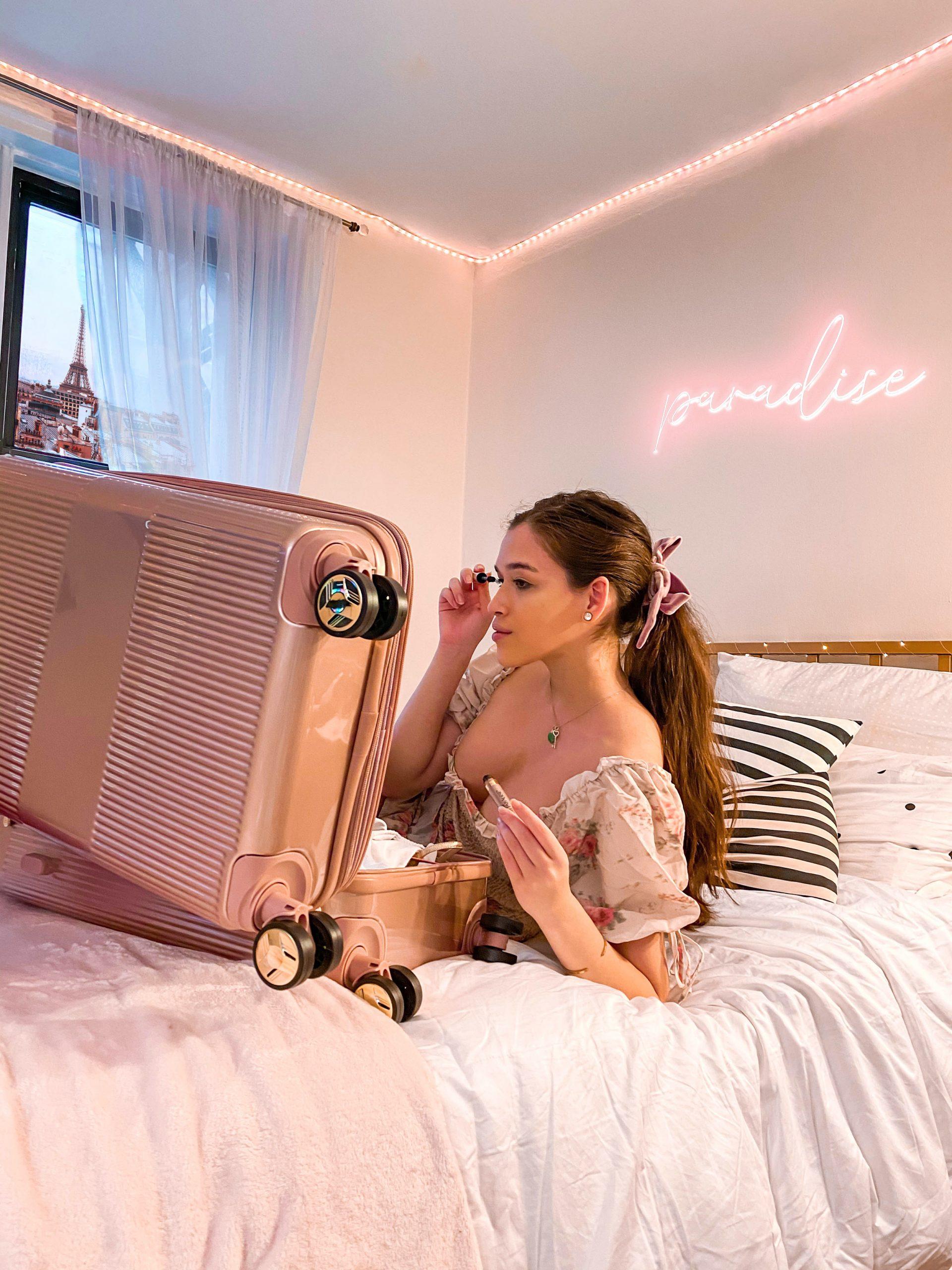 l'oreal lash paradise mascara carry on luggage walmart summer beauty profuct eva phan eva darling travel