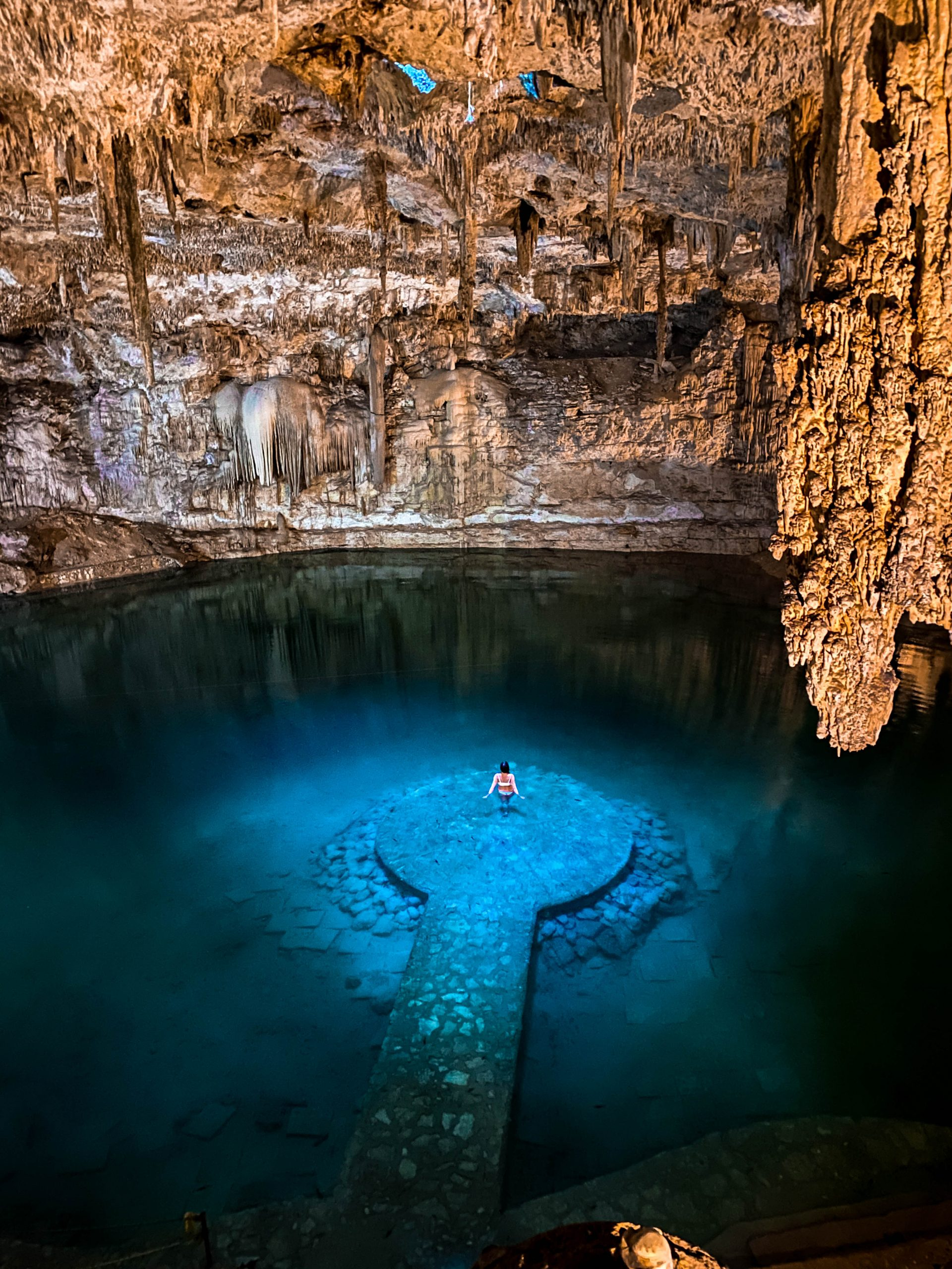 underwater platform cenote suytun valladolid instagrammable photo worthy where to photoshoot valladolid yucatan peninsula mexico
