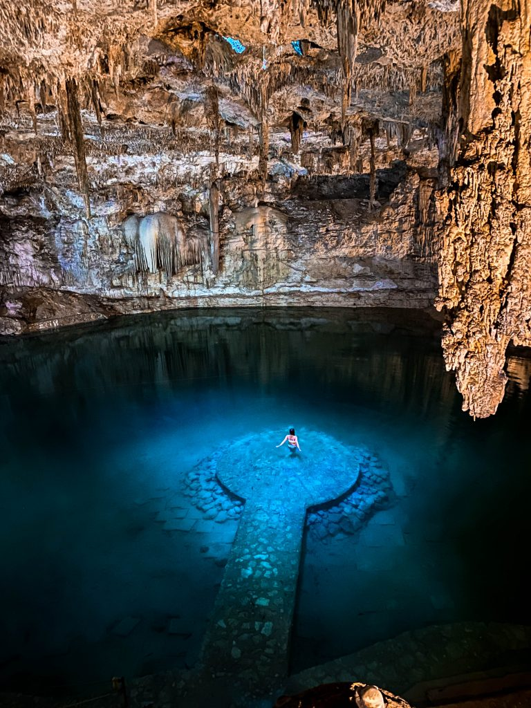 Cenote suytun valladolid natural underground cave swimming freshwater where to go valladolid tulum yucatan peninsula mexico what to do underwater platform photo location