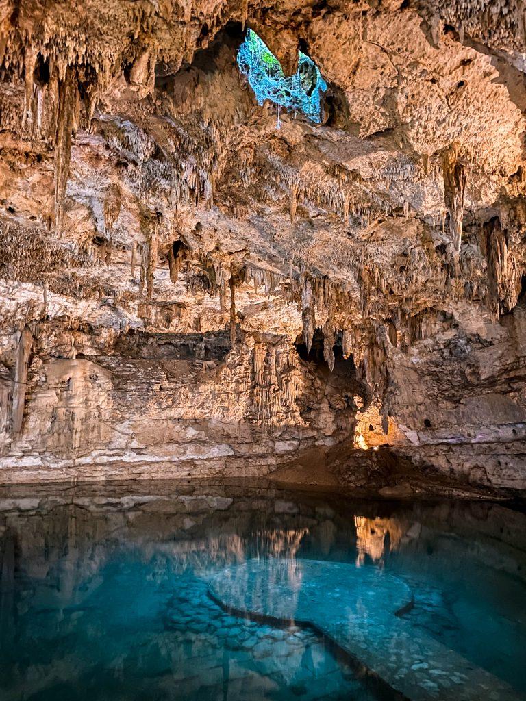 inside cenote suytun mexico near tulum valladolid yucatan peninsula underwater platform photo location instagrammable underwater cave