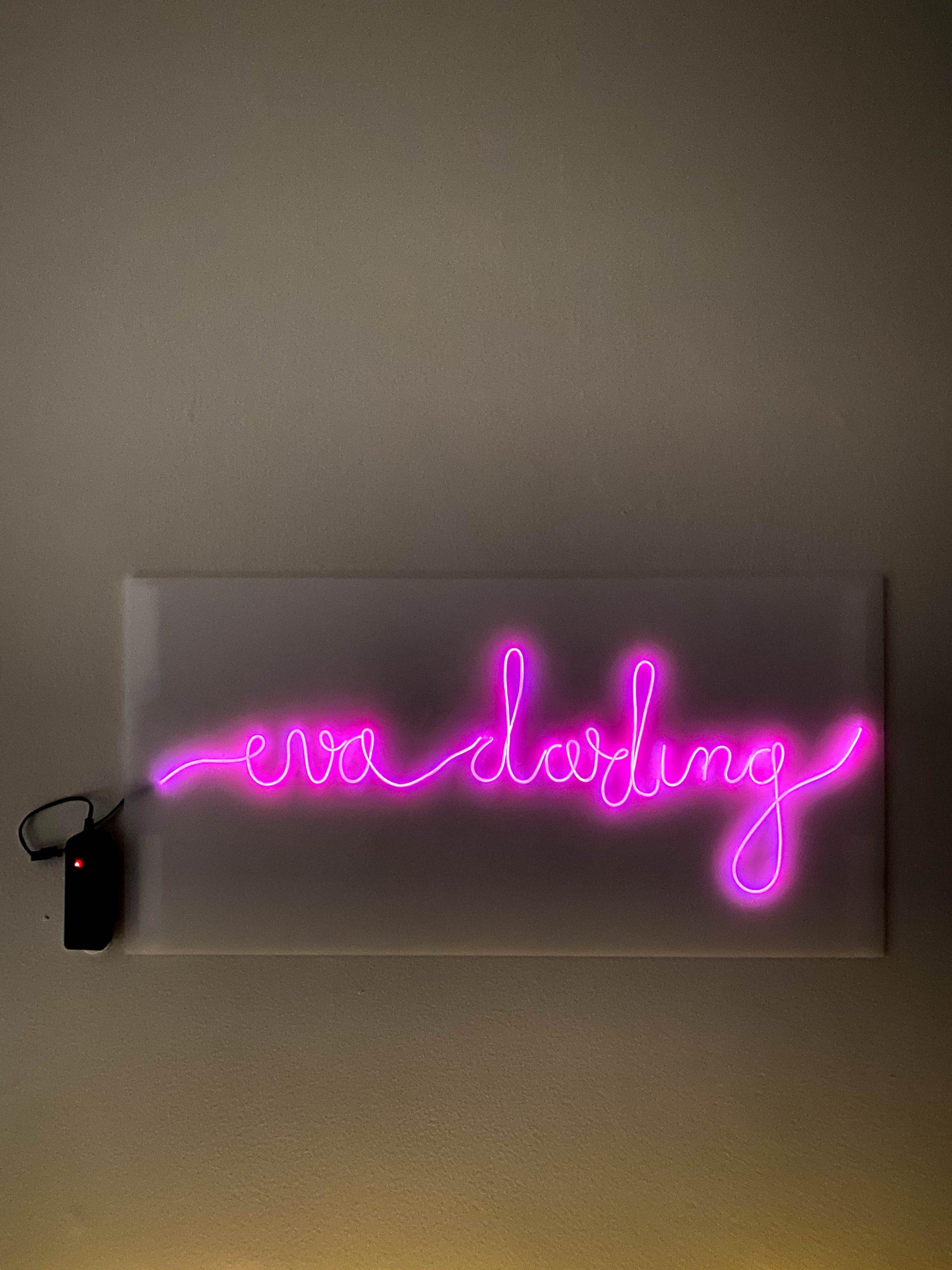 diy inexpensive neon sign el wire how to tutorial