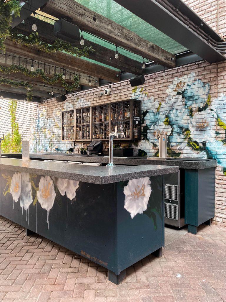 the garden death and co denver colorado ashley joon art bar floral street art