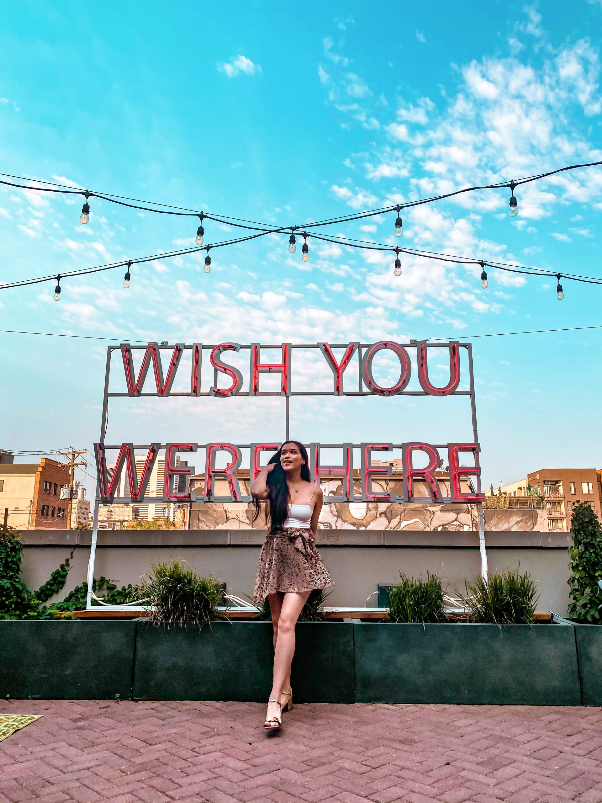 wish you were here neon sign scott young the garden death and co