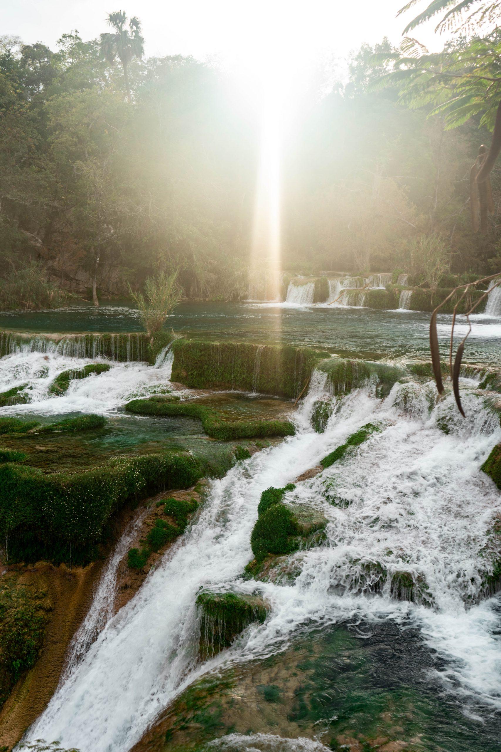 cascada el meco secret hidden waterfall la huasteca potosina san luis potosi mexico