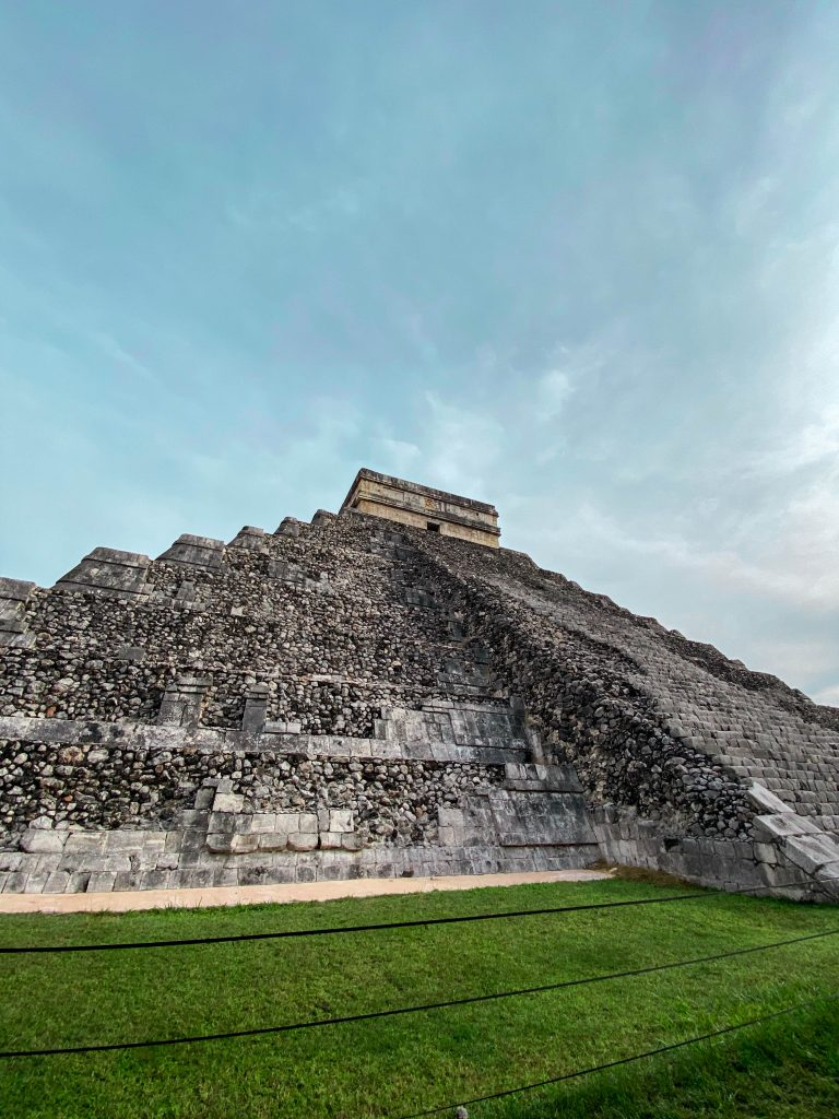 el castillo pyramid temple kukulkan yucatan mexico mayan ruins unrestored