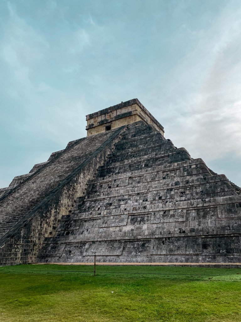 el castillo pyramid temple kukulkan yucatan mexico mayan ruins unrestored original architecture