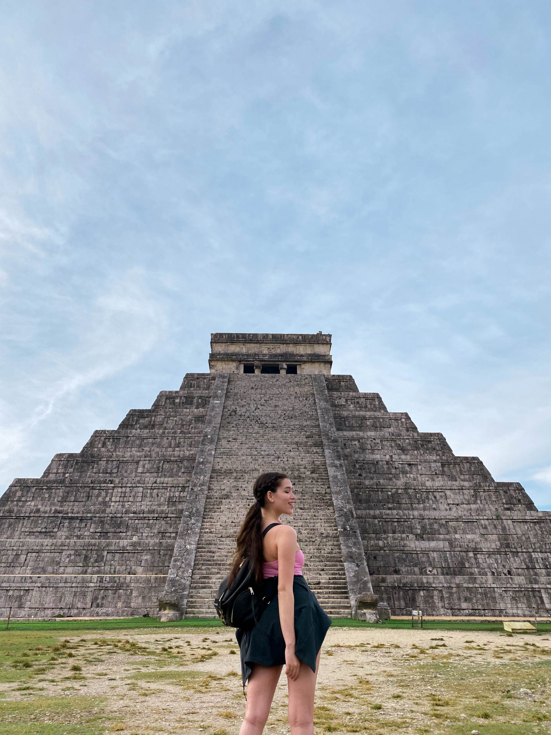 chichen itza el castillo yucatan peninsula mexico day trip rebecca minkoff julian backpack lululemon define jacket meshki cami mayan ruins
