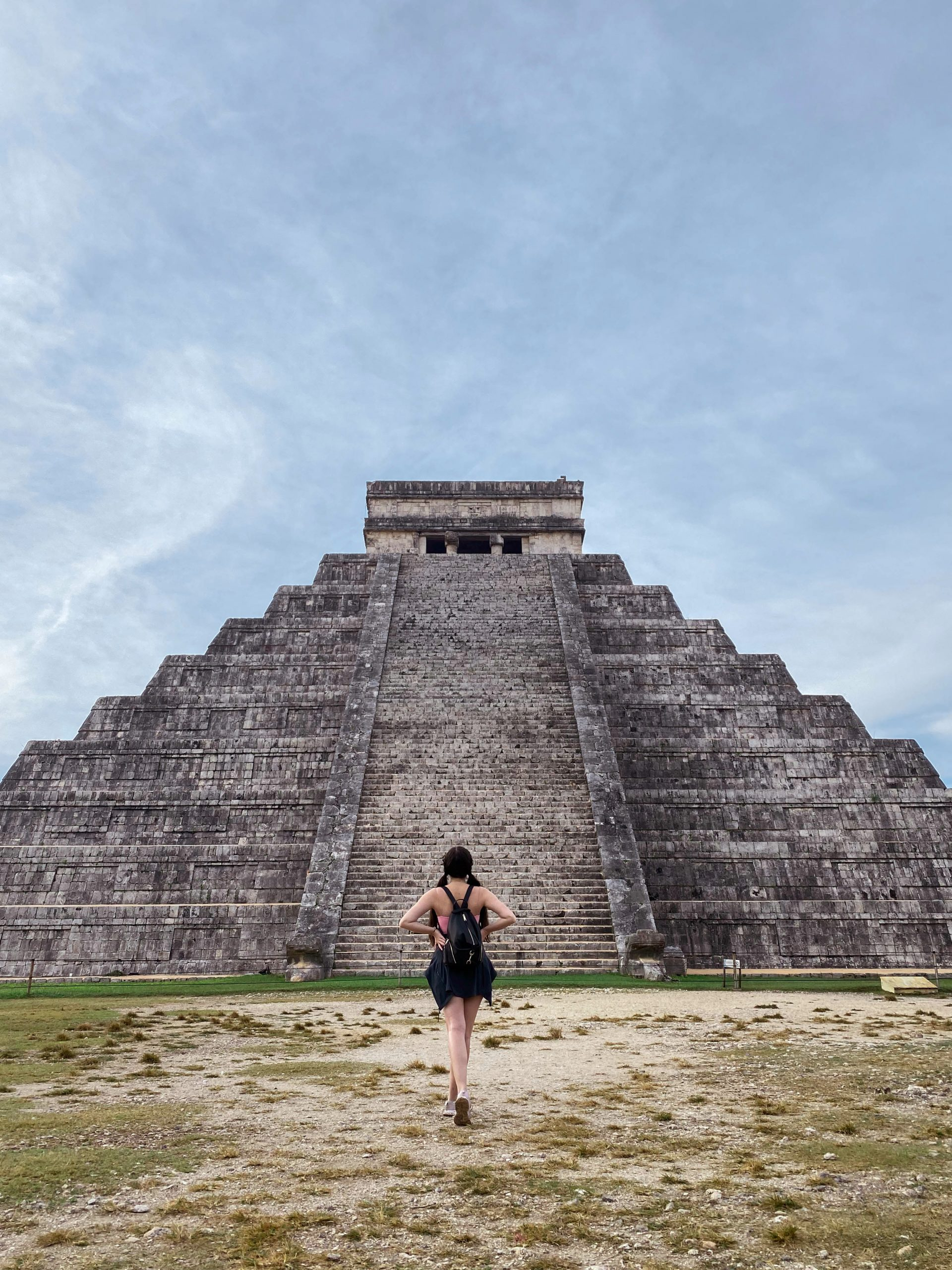 chichen itza el castillo yucatan peninsula mexico day trip rebecca minkoff julian backpack lululemon define jacket meshki cami mayan ruins solo female traveler