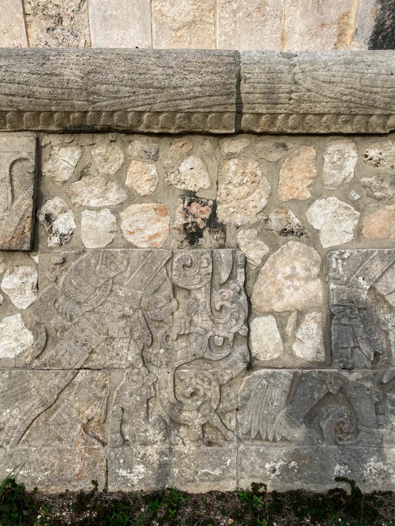 mayan warrior relief carving ruins maya art great ball court