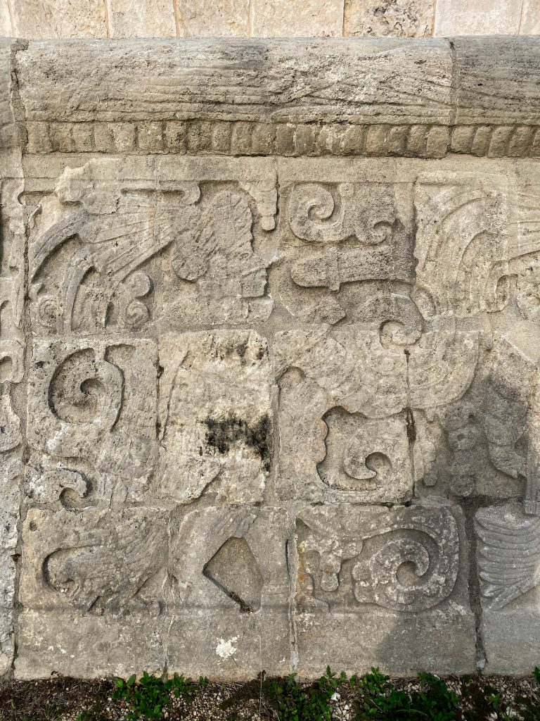 mayan warrior relief carving Chichen Itza maya art great ball court