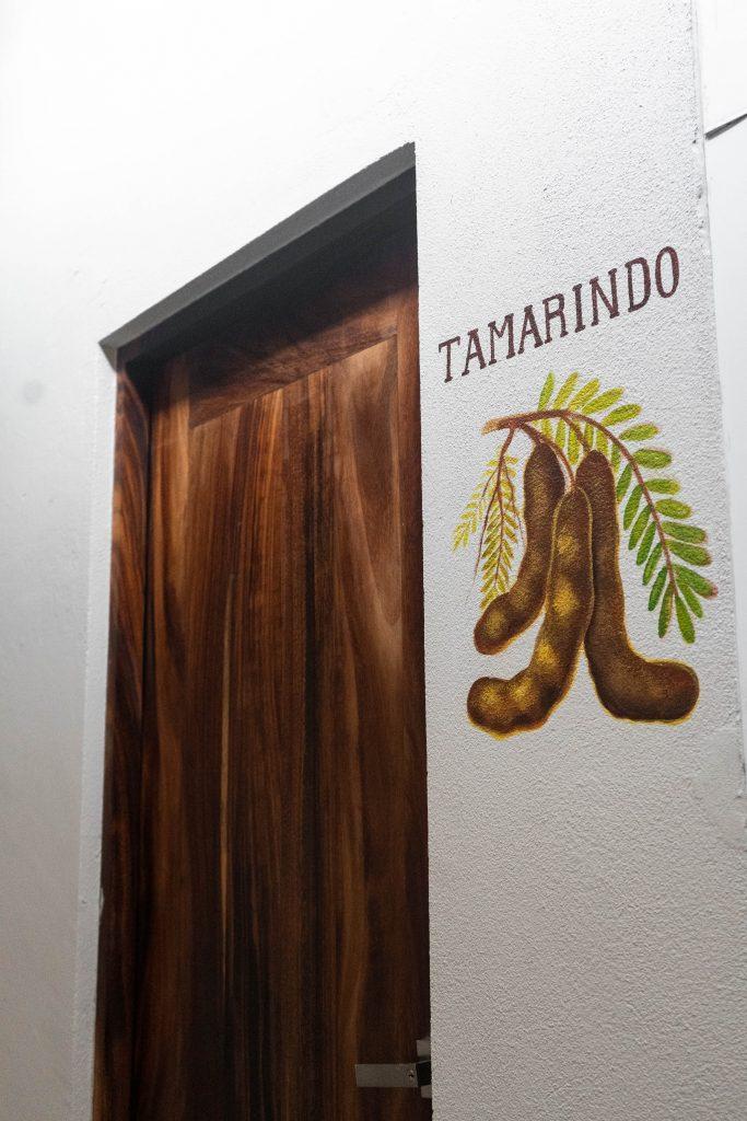 tamarindo room hotel casa ortiz ciudad valles la huasteca potosina san luis potosi mexico fruit mural tamarind pods
