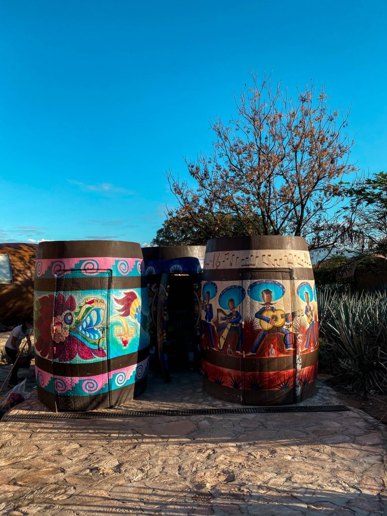 matices hotel de barricas mural jalisco artist tequila barrel tequila mexico