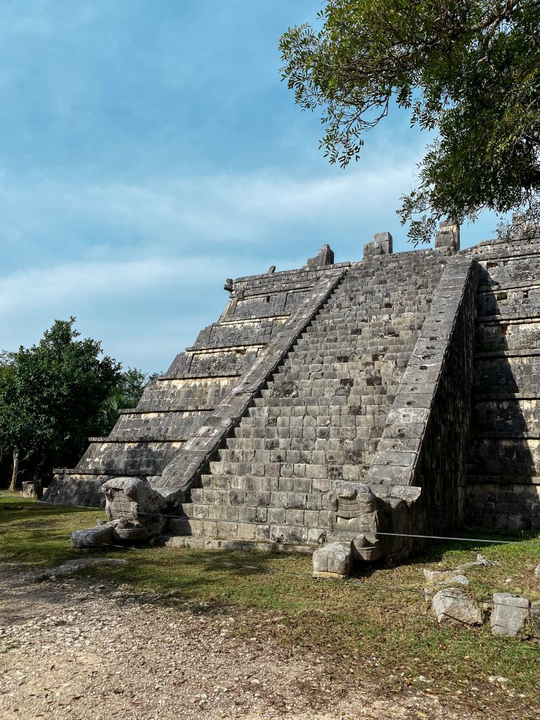 osario temple tomb of the high priest chichen itza mayan ruins yucatan mexico