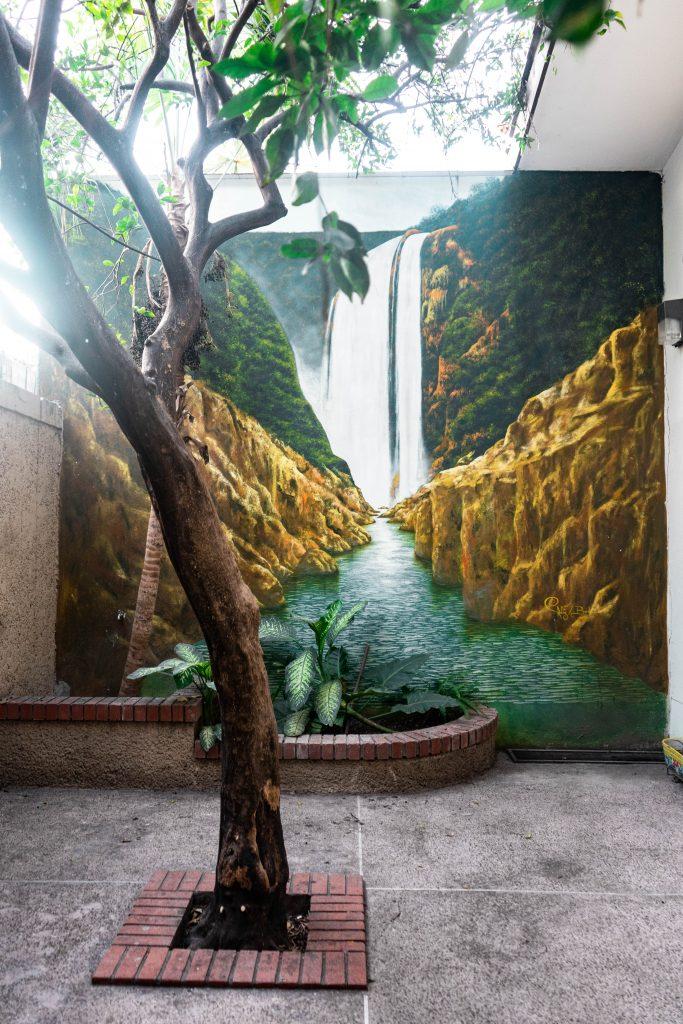 waterfall mural la huasteca potosina san luis potosi mexico