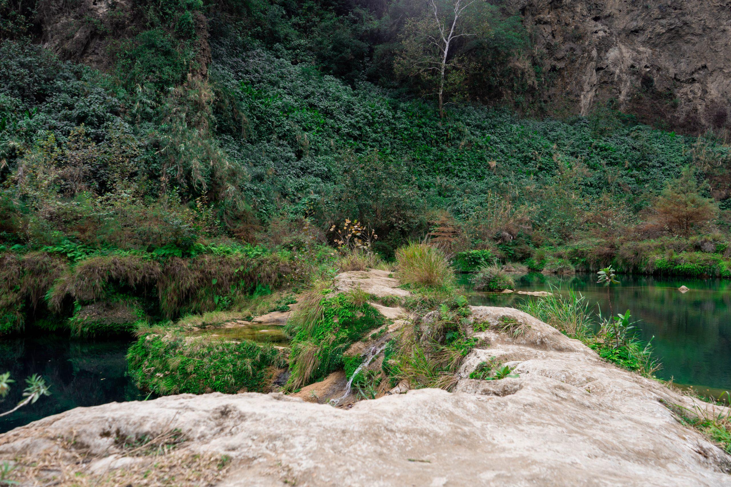 cascada el salto del agua la huasteca potosina san luis potosi mexico adventure travel water feature hiking rock formation lush greenery