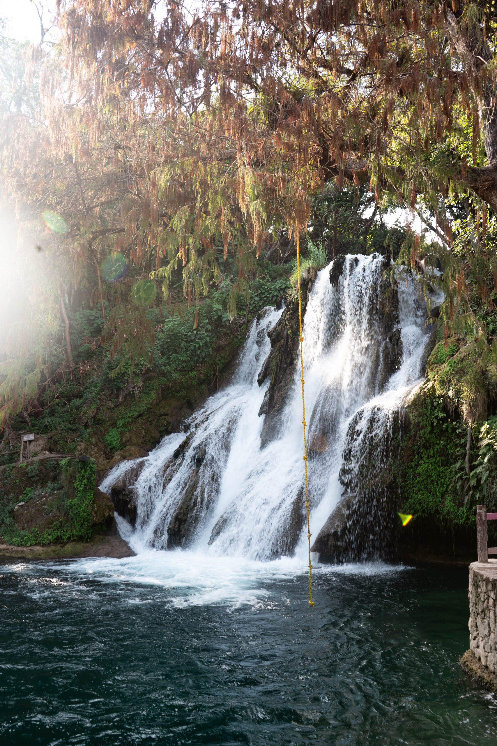 Cascadas de Tamasopo waterfall jumping la huasteca potosina san luis potosi mexico nature photography