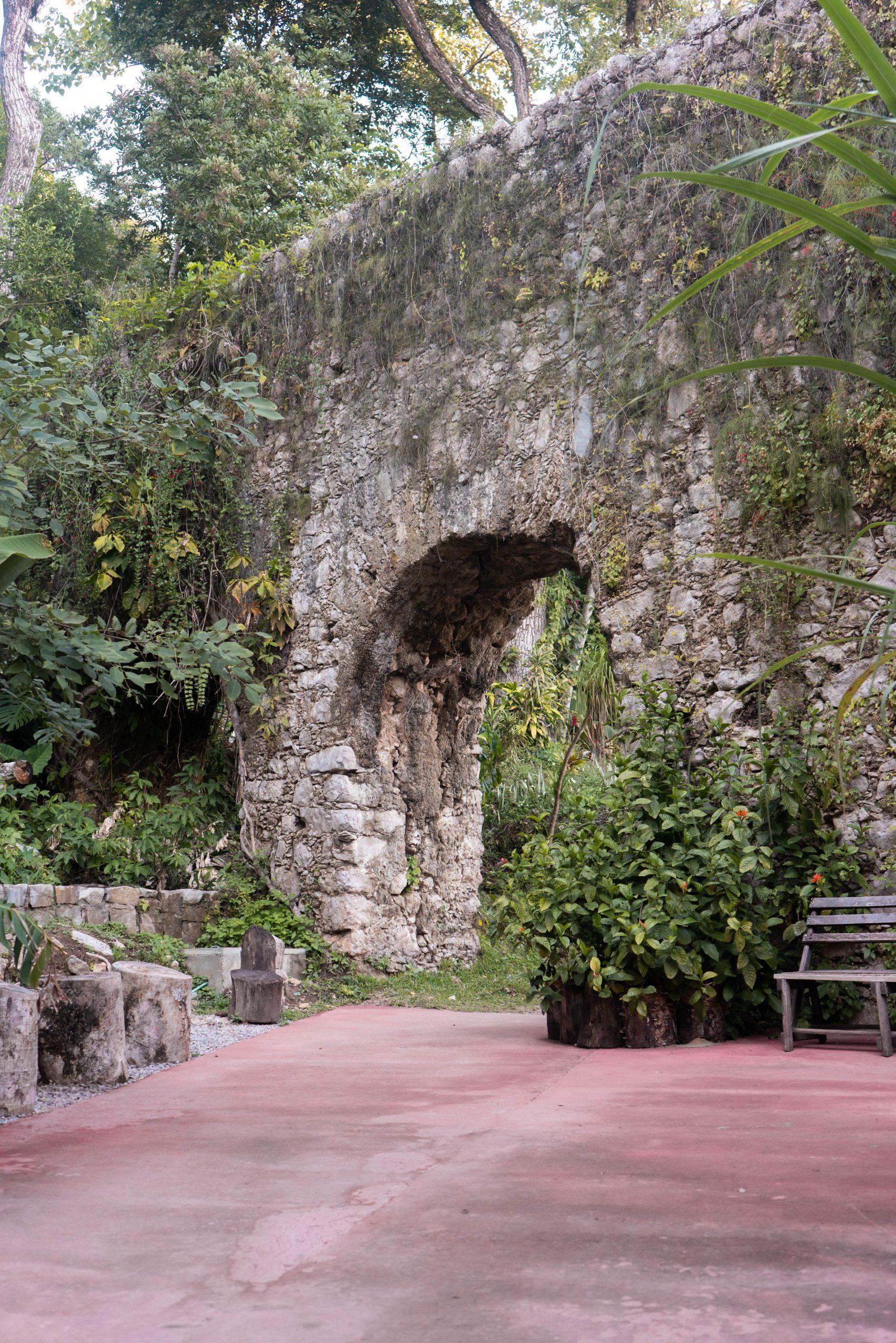 stone archway garden san luis potosi mexico