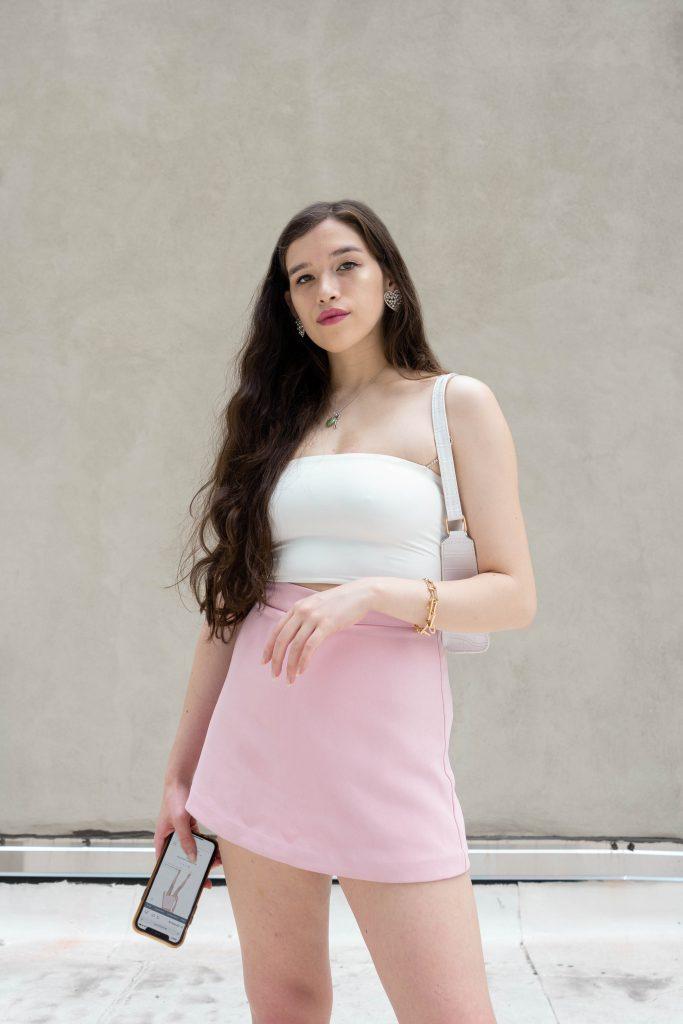 revolve nbd pink ronan skort skirt summer ootd revolve clothing website