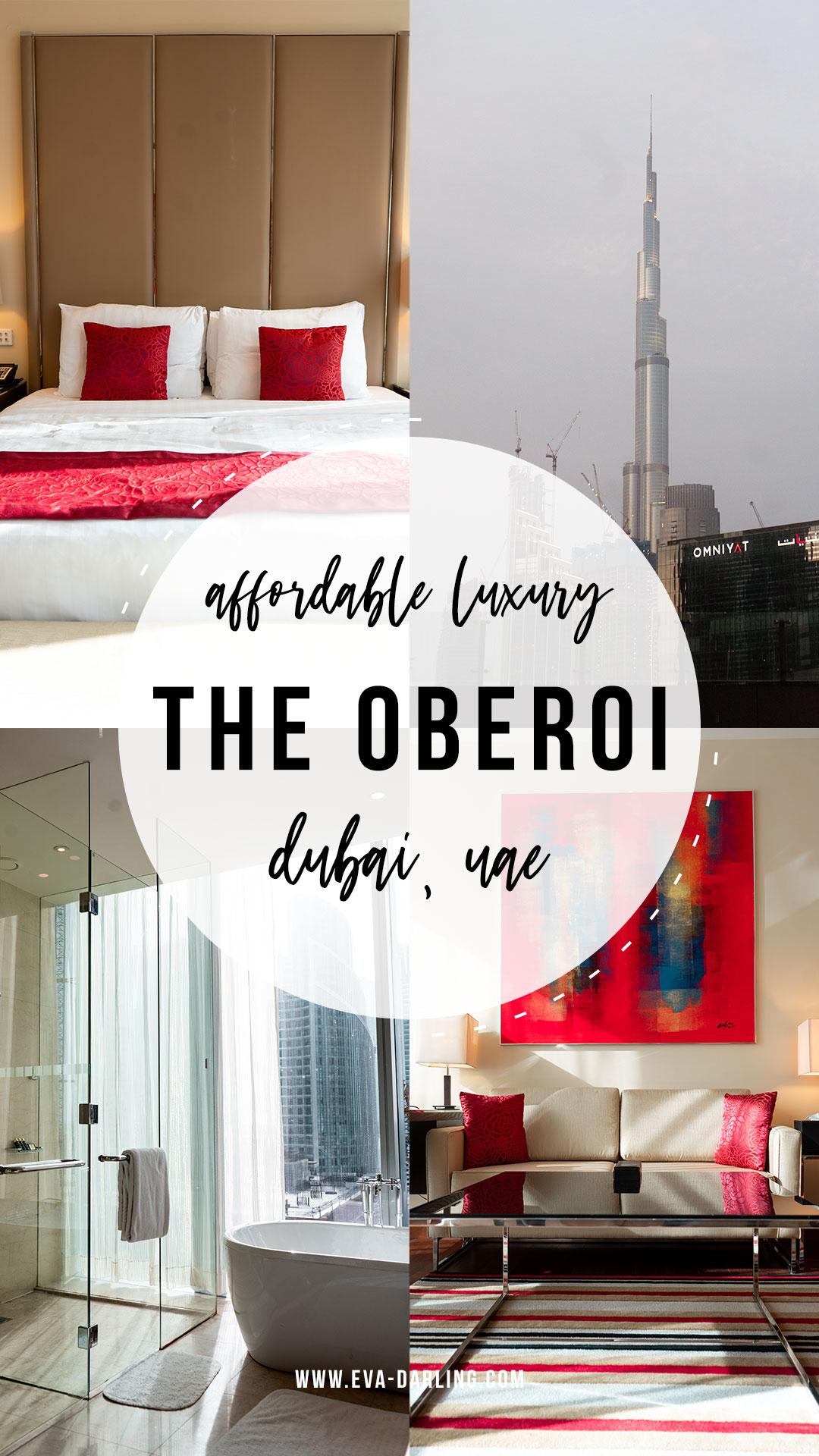 the oberoi dubai uae affordable luxury hotel business bay king bed burj khalifa