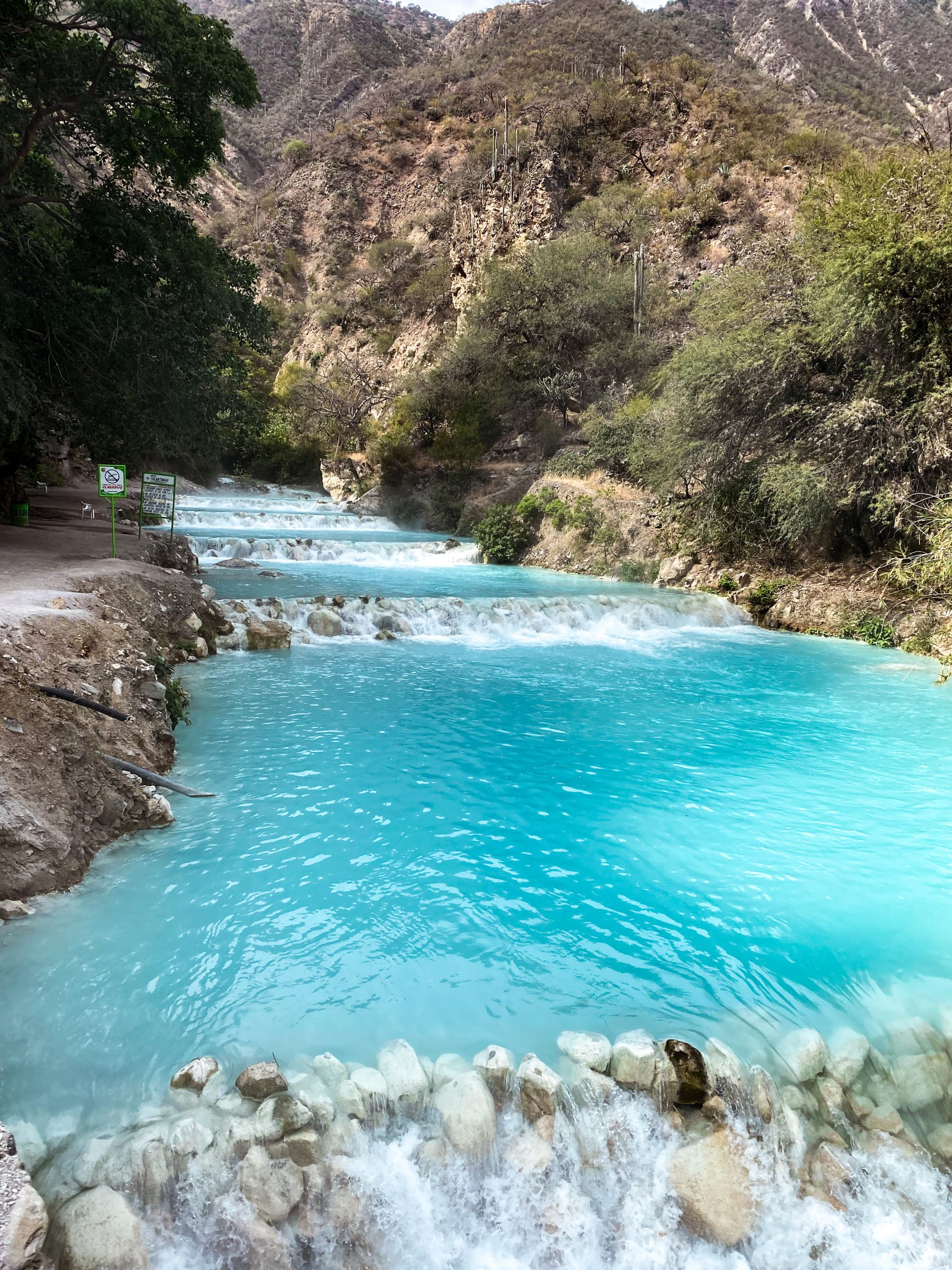 tolantongo river hidalgo mexico turquoise blue water cascades